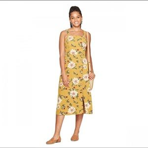 NWOT - Xhilaration Gold Floral Midi Dress